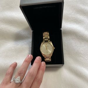 Woman's Emporio Armani gold watch. New with tags!